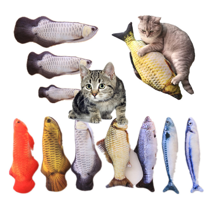 Simulation Plush Catnip Fish Toy for Cat Playing Training Tool Cats Pets Mint Fish Chew Toys Cat Rest Bite Pillow Scratch Board