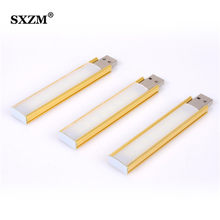 SXZM 10CM Mini USB led light touch Dimmer 8 leds indoor light for PC computer,Notebook,Lamp White or Warm White(China)