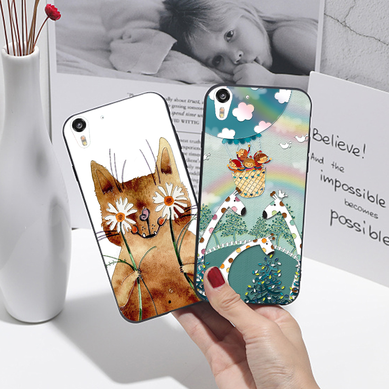 For HTC Desire Eye 820 825 Cute Animal Cat Black Cover 3D Relief Silicone Case For HTC desire 10 lifestyle Phone Funda Coque