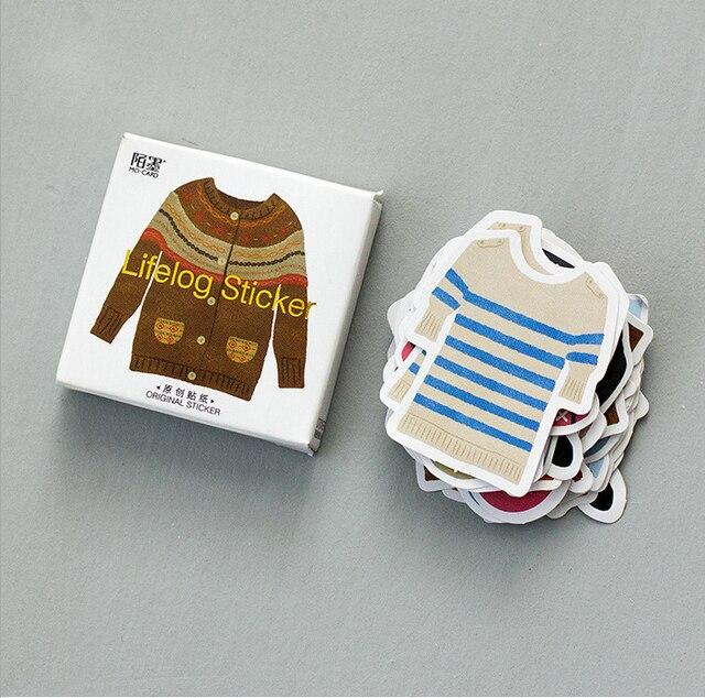 44 Pz set Carino Stickers Notebook Mini Colorful Abbigliamento Design  Decorazione Adesivi FAI DA TE ef547fe52cac