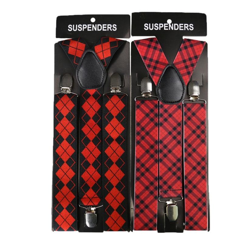 Winfox Fashion 3.5cm Wide Rainbow Striped Suspenders Women Men Elastic Adjustable Suspender Belt Adult Braces