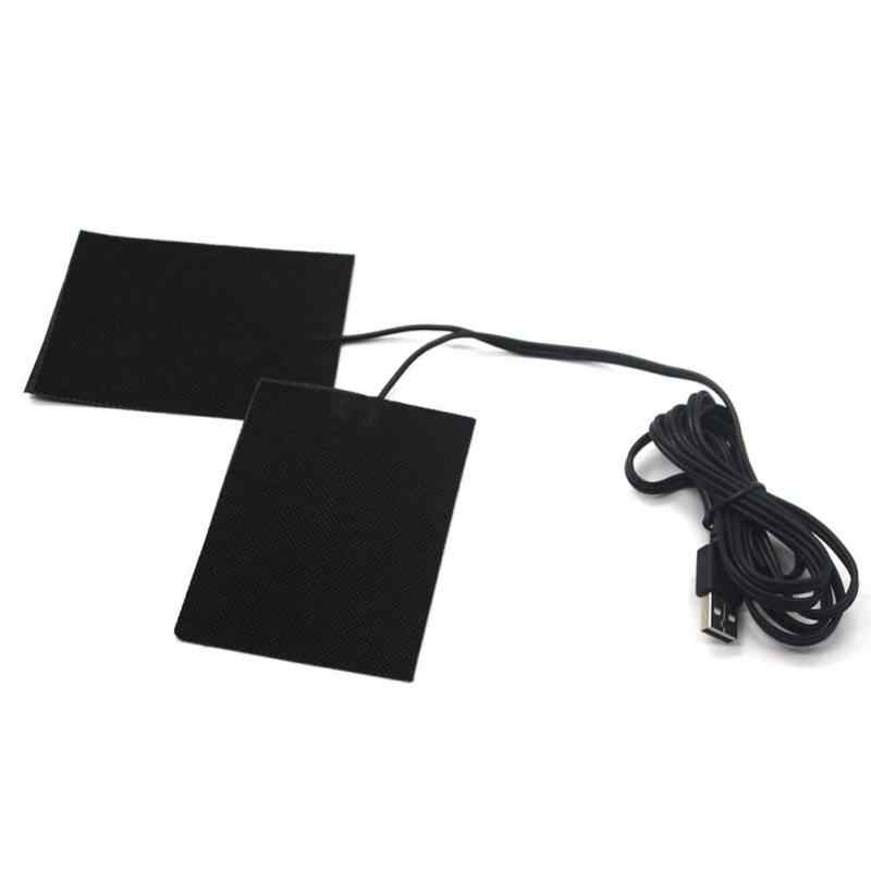 Hot Sale 5V Carbon Fiber Heating Pad Hand Warmer USB Heating Film Electric Winter Infrared Fever Heat Mat