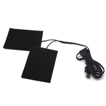 رائجة البيع 5 فولت ألياف الكربون لوحة التدفئة جهاز تدفئة محمول USB التدفئة فيلم الكهربائية الشتاء الأشعة تحت الحمراء حمى الحرارة حصيرة-في وسادات التدفئة الكهربائية من المنزل والحديقة على