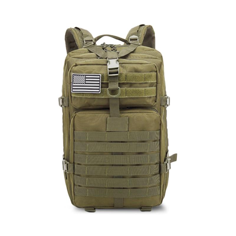 Arm-Green-50L Softback Outdoor Waterproof Men Travel Camping Backpack Bag