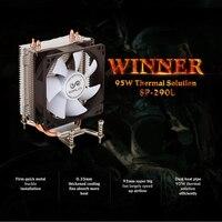 Original SOPLAY CPU Cooler 2 Heatpipes 3pin 9 2cm Fan PC Computer For Intel LGA 1150