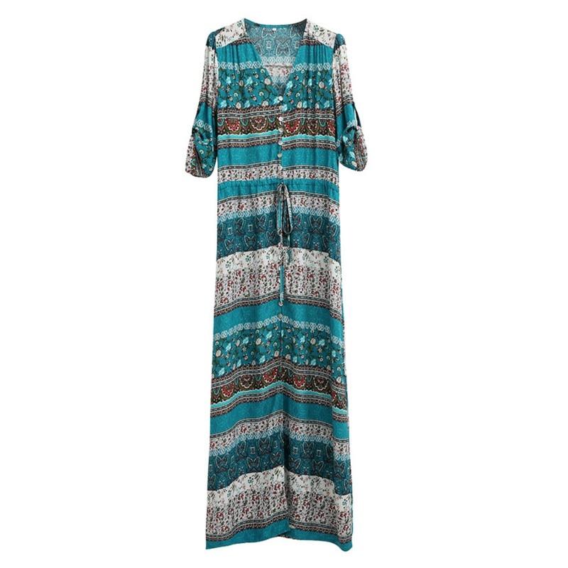 ผู้หญิง boho คอวี 3/4 แขน s undress - เสื้อผ้าผู้หญิง