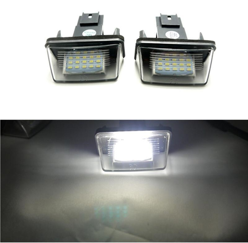 CYAN SOIL BAY White 18LED LICENSE PLATE LIGHT BULBs Lamp For Peugeot Partner Citroen C3 C4 C5 led smd license plate light for citroen c2 3d c3 5d c4 3d c4 5d c5 4d c5 5d c6 4d c8 4d ds3 3d