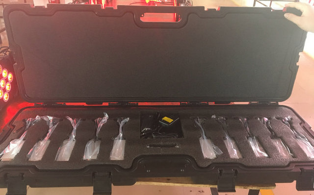 10x Lot 10w Zoom Battery Ed Led Pinspot Light With Ir Remote Control Flashlight Magnetic 10in1 Charging Case