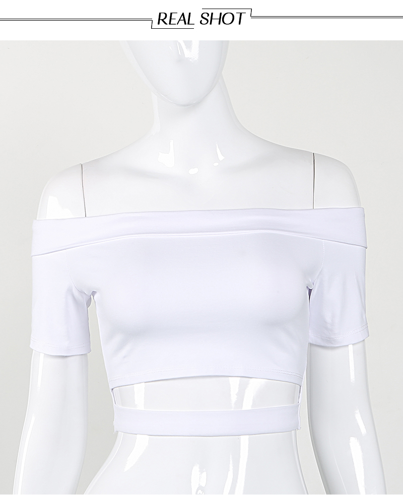 HTB10EnSRXXXXXaGXXXXq6xXFXXXy - Women Sexy White Off Shoulder Cut Out Crop Top Short T-Shirt PTC 256