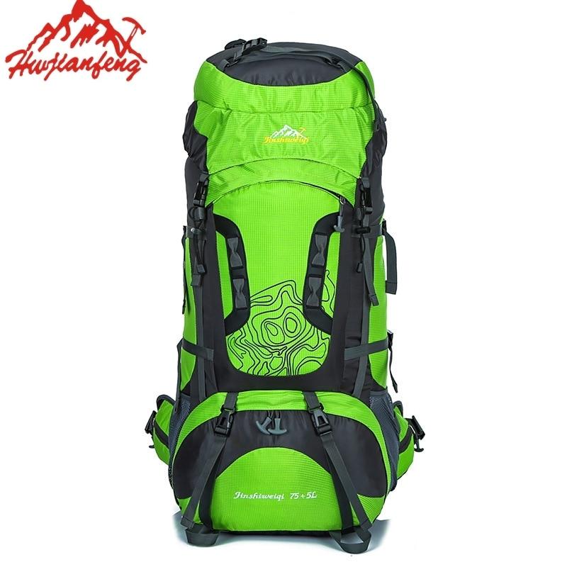 80L Large Outdoor Backpack Waterproof Unisex Nylon Travel Bag Camping Rucksack Hiking Climbing Backpack Sports Bag