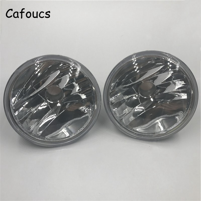 Cafoucs Car Front Bumper Fog Lights Fog Lamp For Toyota Highlander 2011 2012 2013 stainless steel strips for toyota highlander 2011 2012 2013 car styling full window trim decoration oem 16 8