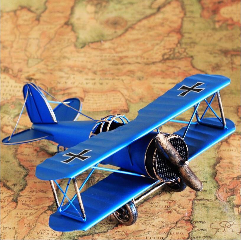 US $14 77 |German World War I Vintage Airplane Models Iron Metal Aircraft  Glider Biplane Plane Children Toys Home Wedding Decoration-in Diecasts &  Toy