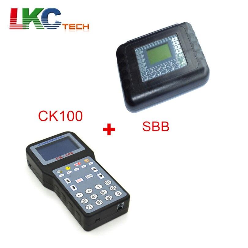 Цена за DHL Бесплатная SBB Ключевые программист V33.02 + CK100 V99.99 Авто OBD2 автомобиля иммобилайзер универсальный ключ программирования программист