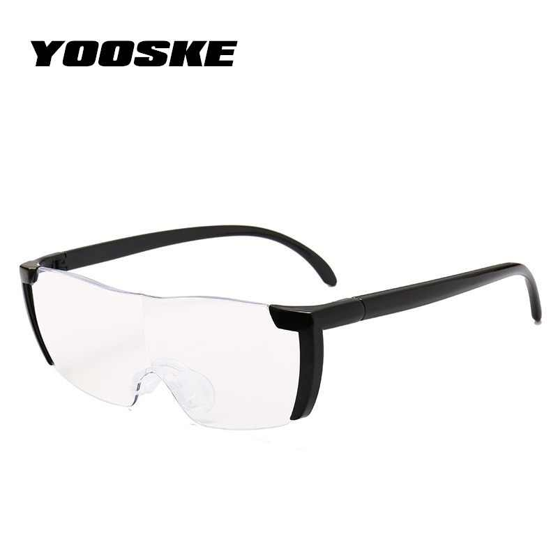1706967dcee YOOSKE 1.6 times Magnifying Glass Reading Glasses Big Vision 250%  Magnification Presbyopic Glasses Magnifier Eyewear