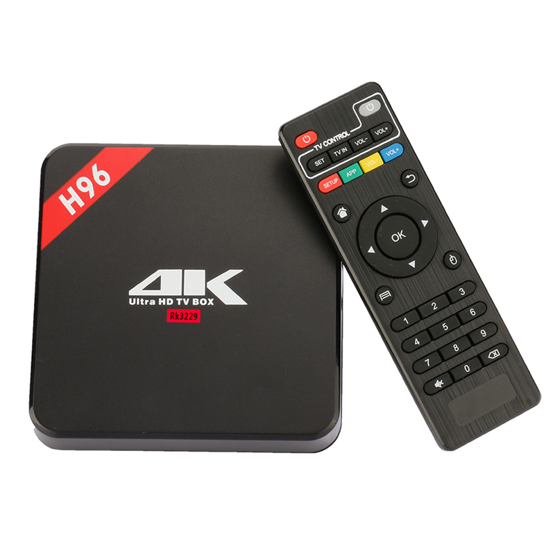 H96 Android TV Box Smart TVbox RK3229 Quad Core Mini PC 1GB RAM 8GB ROM 4K 3D Media Player Wifi OTT Set Top Box 2017 VS A95X itasee ug007ii dual core android 4 2 2 google tv player w 1gb ram 8gb rom i8 air mouse us plug
