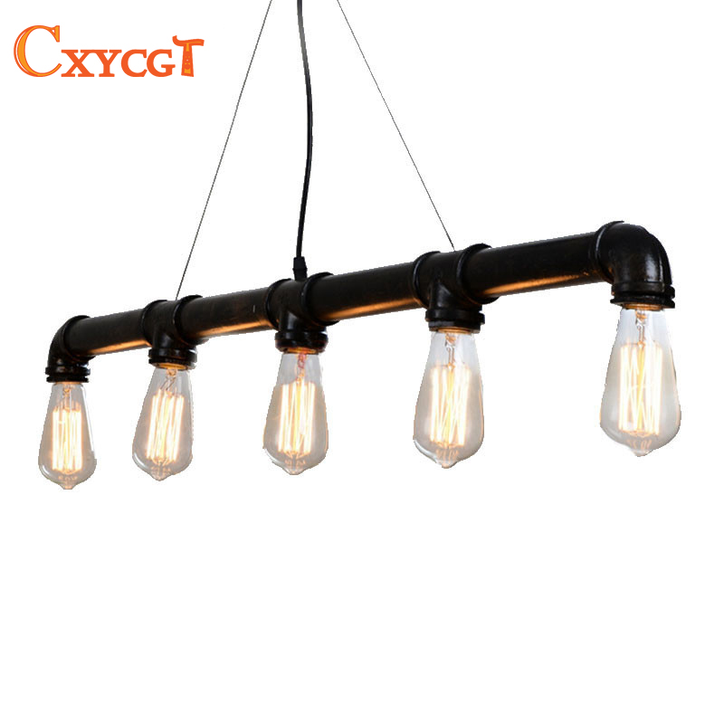 Black American Loft Vintage Retro Pulley Wrought Iron Pendant Light Industrial Lamps E27 Edison Pendant Lamp Home Light Fixtures iwhd american retro vintage pendant lights fixtures edison loft industrial pendant lighting hanglamp lampen wrount iron