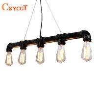Black American Loft Vintage Retro Pulley Wrought Iron Pendant Light Industrial Lamps E27 Edison Pendant Lamp