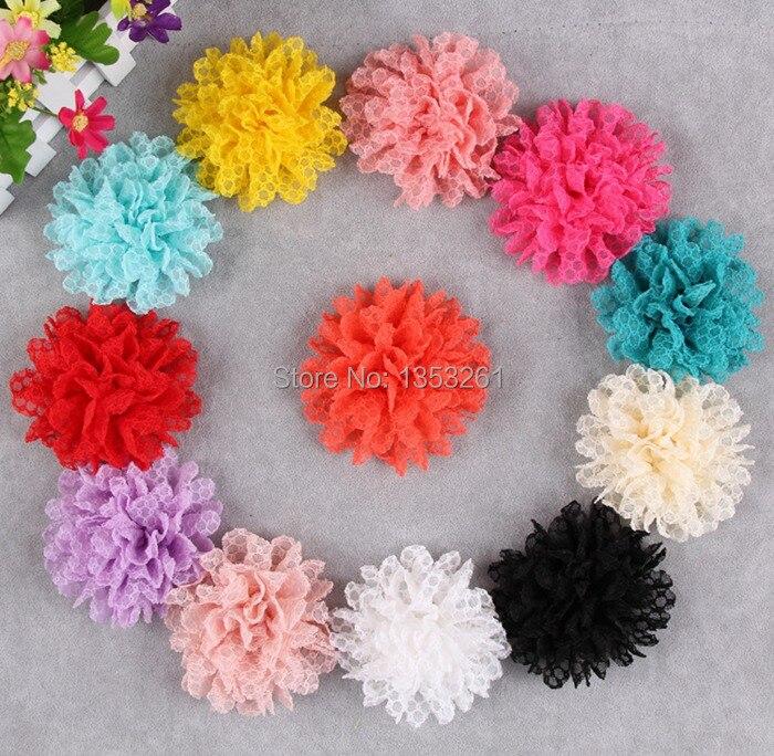 H12 (10 unids/lote) Crochet Flores Para Niños Accesorios Posterior ...