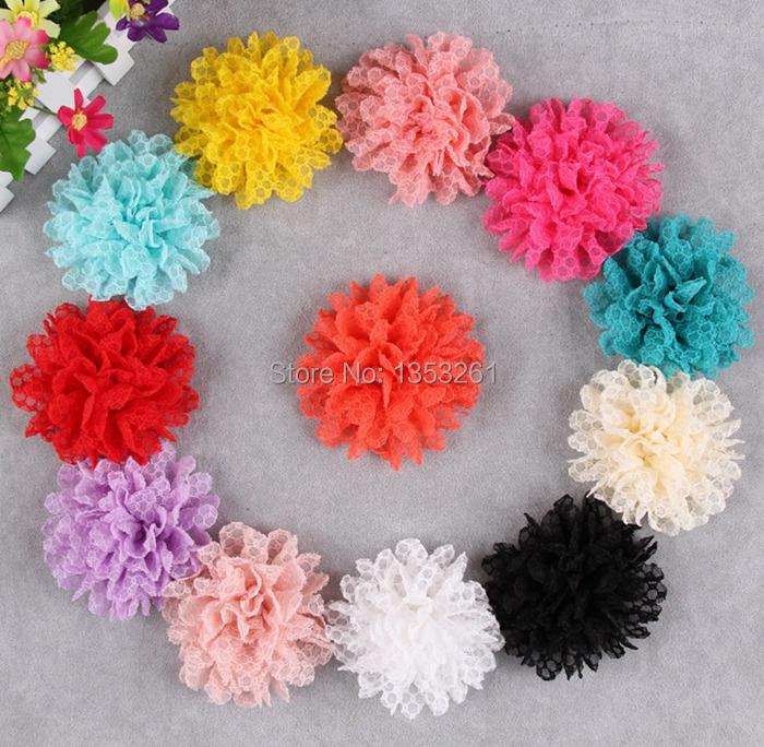 h unidslote crochet flores para nios accesorios posterior plana grande de