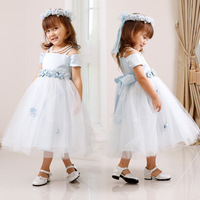 New Summer 2015 Free Shipping Mesh Children S Summer Dress Wedding Dress Kids Princess Party Child
