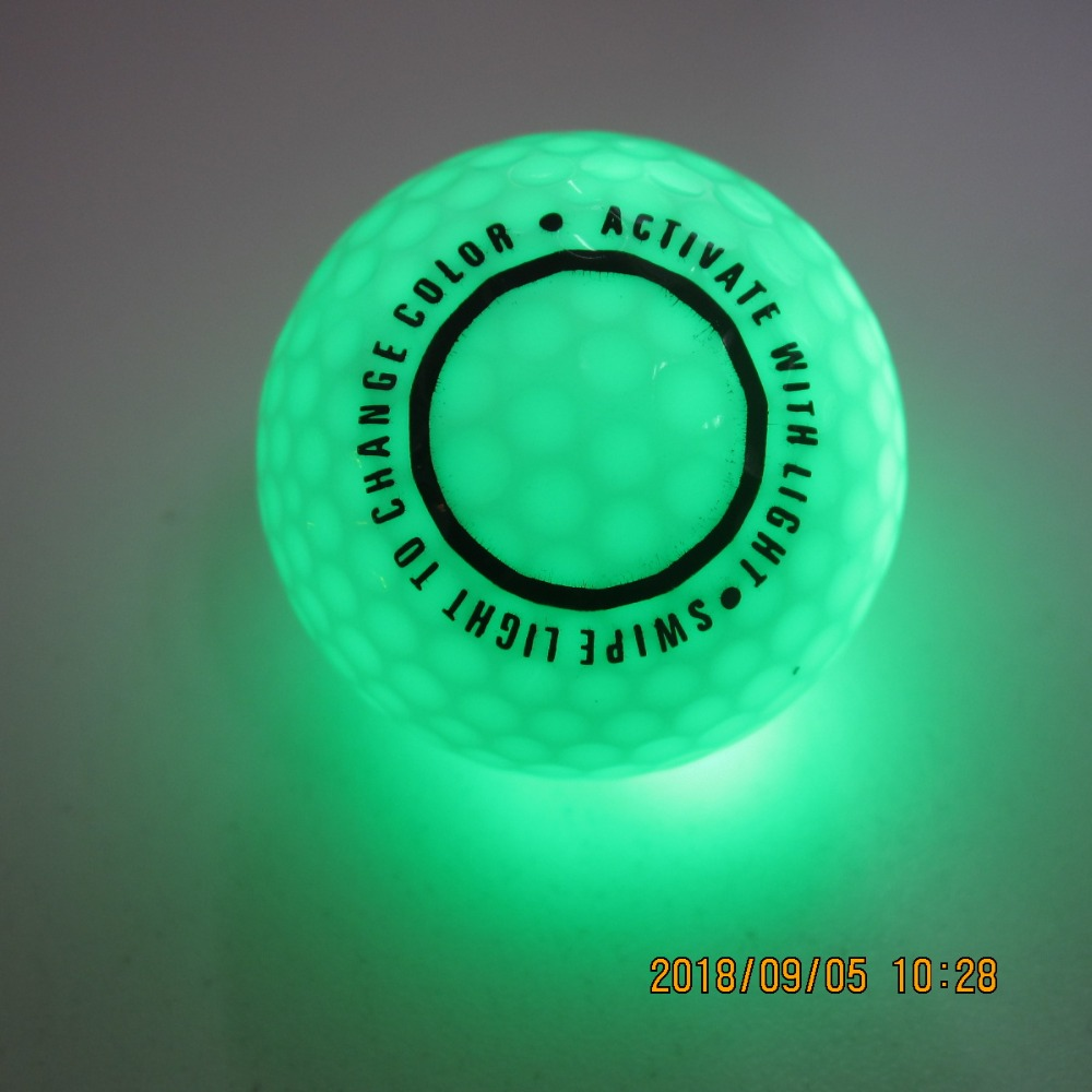 6/pack Light Activated 6 Color Changable LED Golf Balls