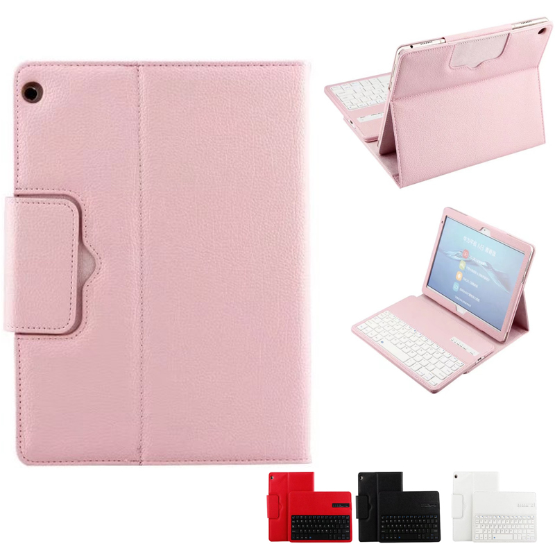 Wireless Bluetooth Keyboard PU Leather Cover Protective Case For Huawei MediaPad M3 Lite 10 BAH-W09/AL00 10.1 Tablet wireless bluetooth keyboard pu leather cover protective case for huawei mediapad m3 lite 10 bah w09 al00 10 1 inch tablet gift