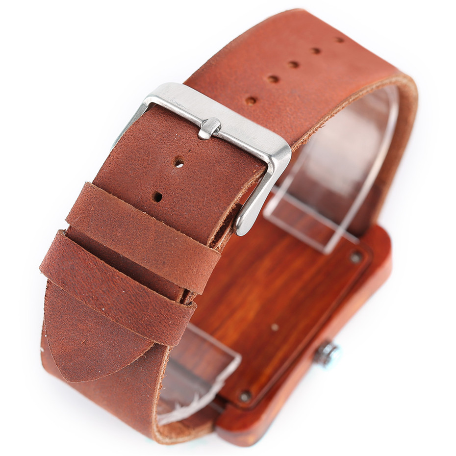 genuine leather band nature wood watch05