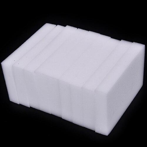 100 шт./Лот, меламиновая губка, волшебная губка, ластик, Меламиновый очиститель для кухни, офиса, ванной, чистящие инструменты, губка 10*6*2 см