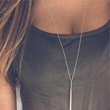 Простое стильное медное металлическое ожерелье хорошего качества