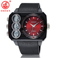2015 OHSEN Men's Watch Sports Led Digital Quartz Waterproof Wristwatches High Quality Plastic Belt Watches Clock  AS05
