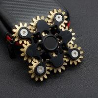 New Gear Tri Spinner Fidget Spinner Steel Hand Spinner R188 Hybrid Bearing Educational Toys Spinner Hand