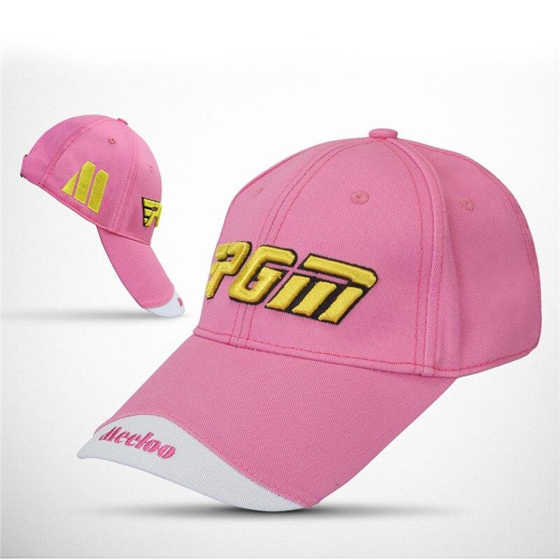 Prix pour 5 couleurs nouvelle pgm marque en plein air golf chapeau de golf casquettes unisexe coton Crème Solaire Chapeau Broderie Marque Capuchon De Golf Chapeaux Casquette à visière