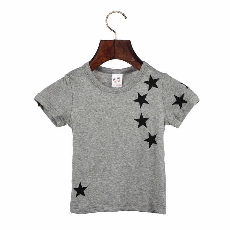 เด็กเด็กเด็กเด็กผ้าฝ้าย Star เสื้อแขนสั้น O คอ T เสื้อ Tees 1st Birthday Boy เด็กสาวฤดูร้อนเสื้อ TShirt เด็กใหม่