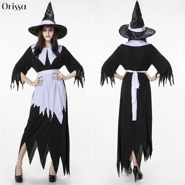 White Black Dark Devil Fallen Angel Costume Women Sexy Halloween ...