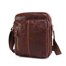 Zccmwx brand 2018 mens shoulder bag Mens Casual retro leather Messenger high quality trend