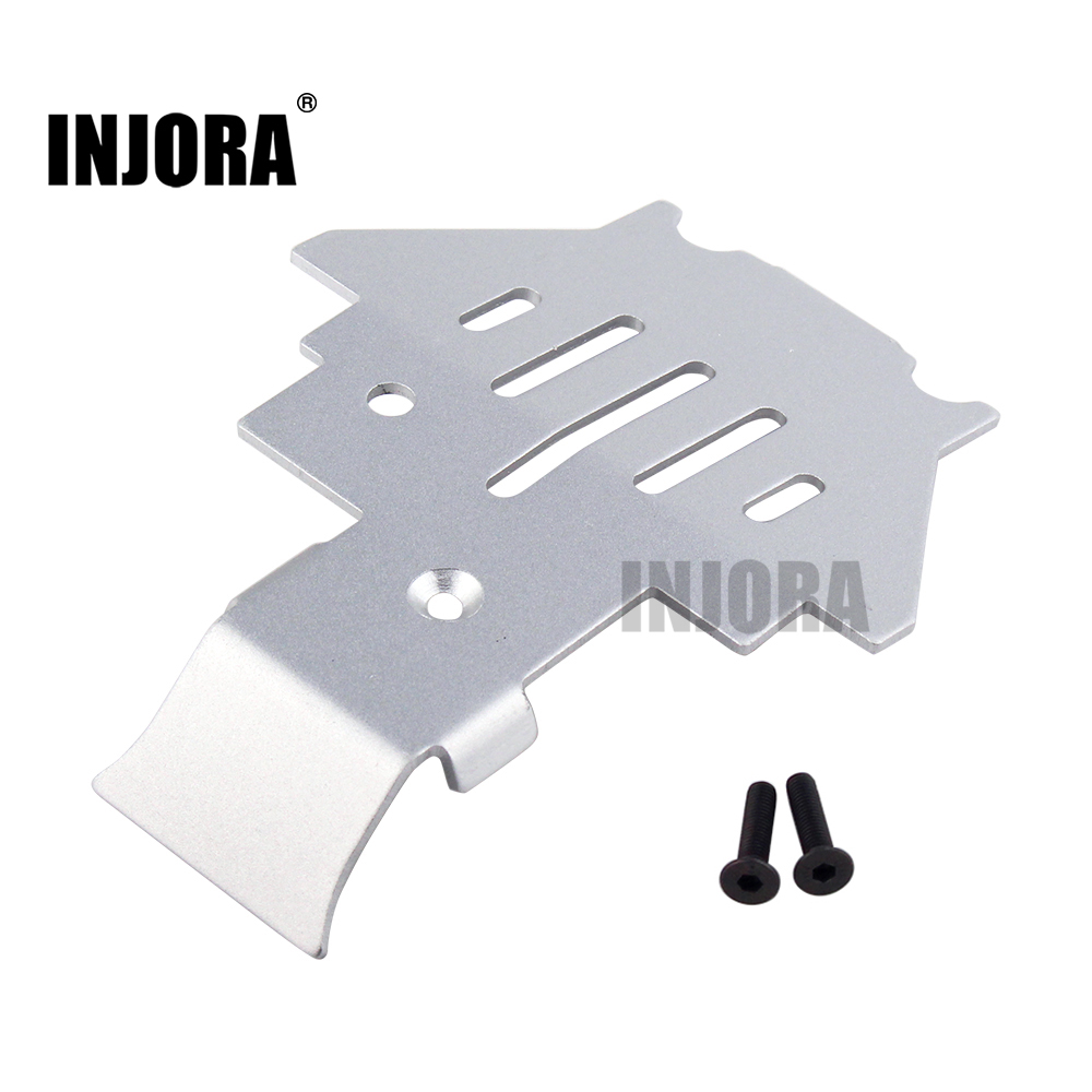 INJORA TRX4 Aluminium Alloy Chassis Armor Protection Skid Plate for 1/10 RC Crawler TRAXXAS Trx-4