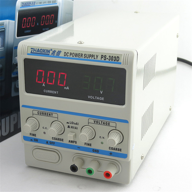 PS-303D 30V 3A Adjustable Power Supply DC Power Supply Power Supply Milliamp Conversion Phone Repair Power Supply 0.1V 0.01A four digit display rps3003c 2 adjustable dc power supply 30v 3a linear power supply repair