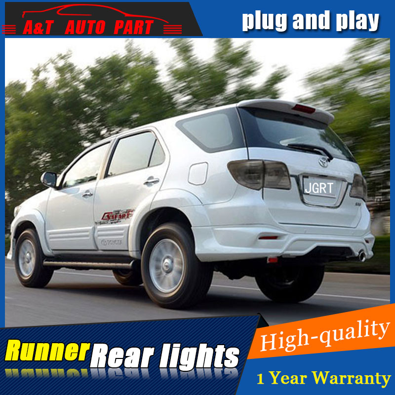 Car styling Accessories for Toyota Fortune rear Lights led TailLight for Fortuner Rear Lamp DRL+Brake+Park+Signal lights led yatour car adapter aux mp3 sd usb music cd changer 6 6pin connector for toyota corolla fj crusier fortuner hiace radios