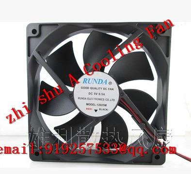 100 New Original Free Shipping For Runda 12025m 5v 0 5a 12cm 120mm 120 120 25mm A Cooling Fan Shipping Bulk Shipping Palettesfan Rc Aliexpress