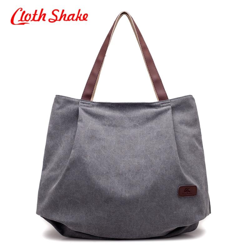 Cloth Shake Women Canvas Bag Luxury Designer Handbags Women 2018 Satchel Bag Women High Quality Bolsa Women Messenger Bag Canvas casual canvas satchel men sling bag