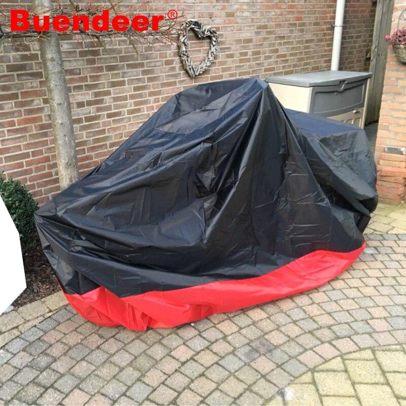 Doelstelling Buendeer M/l/xl/xxl/xxxl Rood + Zwart Waterdicht Motorhoes Voor Honda Kawasaki Suzuki Touring Road King Electra Glide