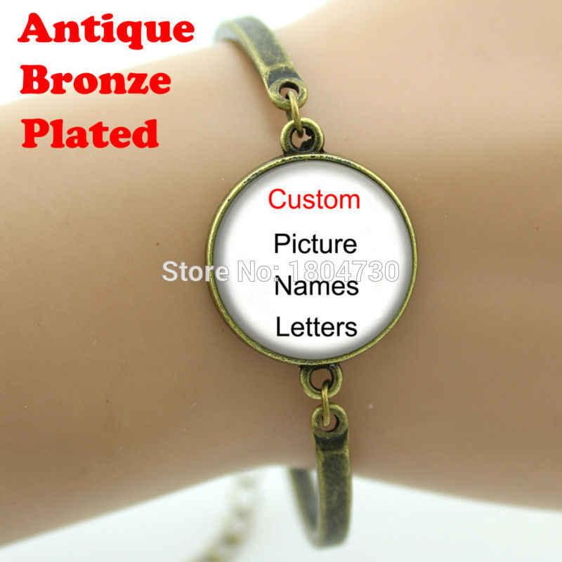 Bracelet mauvais œil, dôme en verre plaqué argent Bracelet en métal bijou, bonne chance Talisman Art pendentif Bracelet bijoux A007