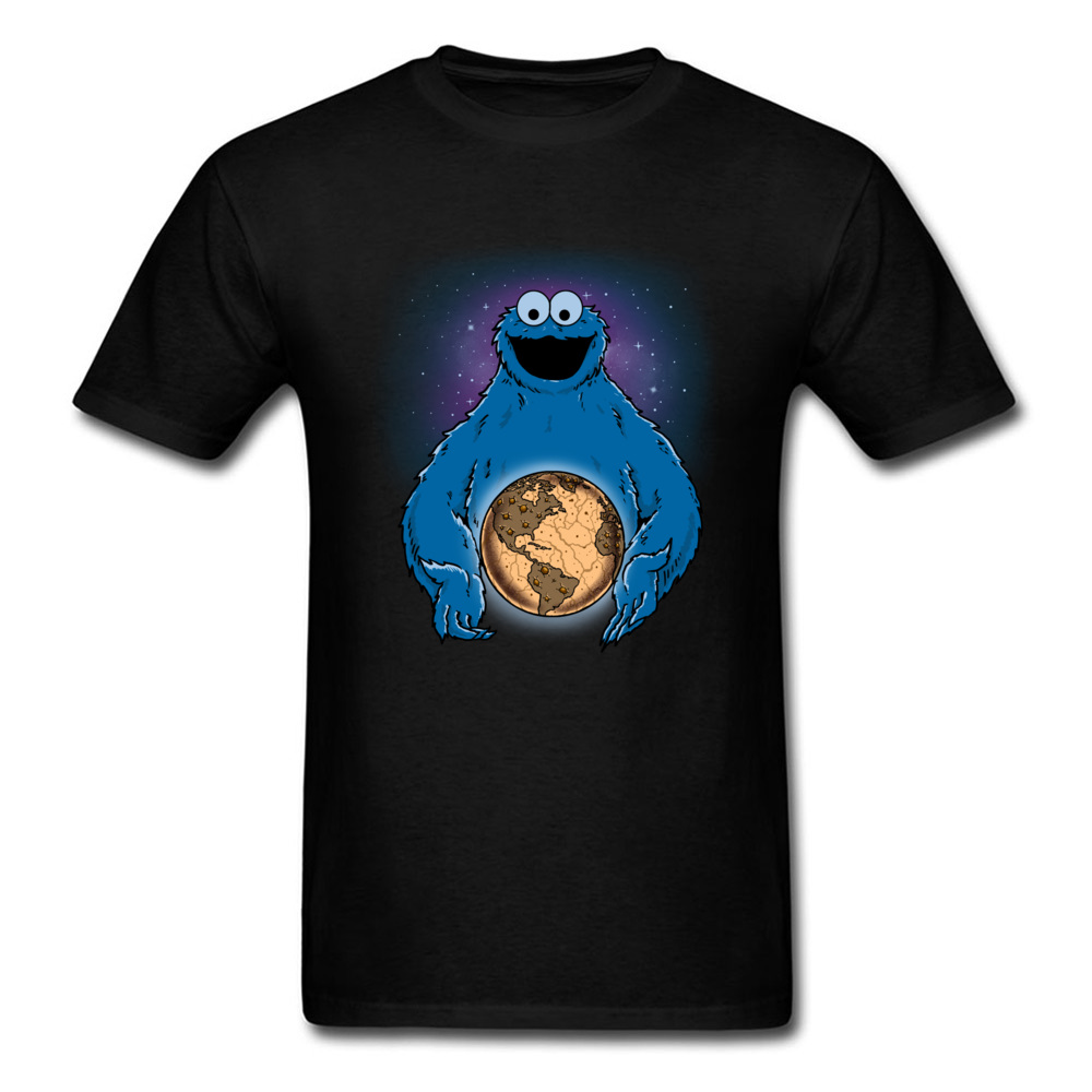 Cookie World T Shirt Adult Tshirt Men T-shirt 2018 Tops & Tees Crew Neck Father Day Clothes Cotton Summer Funny Cookie Monster