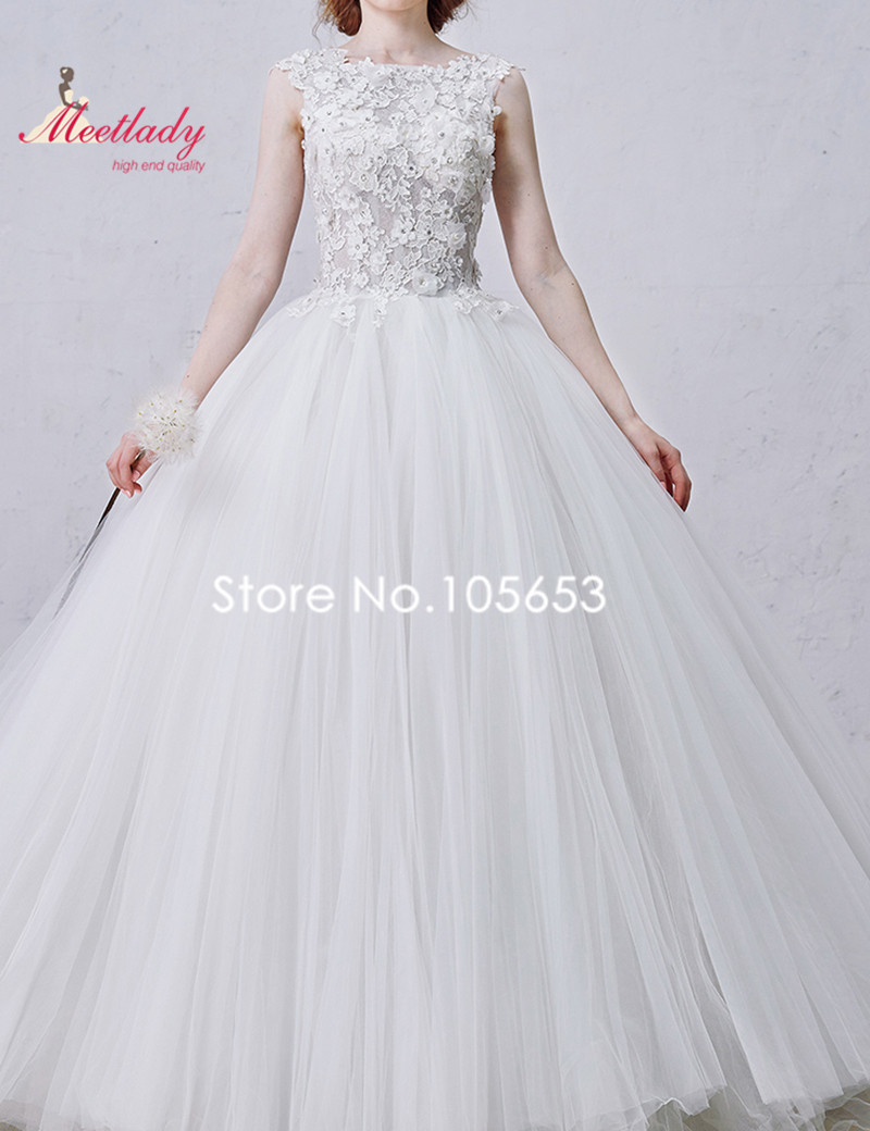 Aliexpress Russian Real Samples Ball Gown Wedding Dress Long Lace Lique Plus Size Puffy Bridal A157 From Reliable