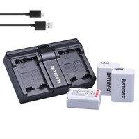 3Pcs 2000mAh NP FW50 FW50 NPFW50 Camera Battery Bateria Dual USB Charger For Sony A37 Alpha