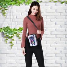 CROWDALE Women Messenger Bags 3D-multicolor Animal Shoulder Bag Handbags Bull-dog printing children 23x17x5cm