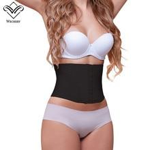 Женский утягивающий латексный корсет под грудью, корсет для похудения, 9 стальных косточек, короткий корсет с поддержкой спины и талии
