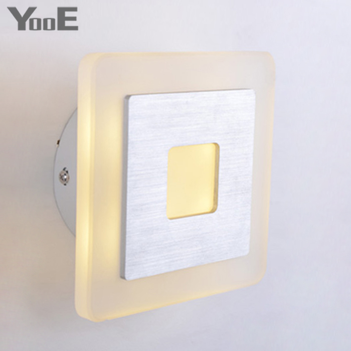 Indoor LED Wall Lamp  4W  AC110V/220V Acrylic Lighting Sconce bedroom Warm White Decorate Wall Lights Free shipping купить