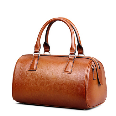 ФОТО 2017 High Quality Solid Cowhide Boston Women Messenger Bag Solid Women Handbag Brand Vintage Women Genuine Leather Bag A767