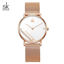 Shengke Women Watches Fashion Simple  Crystal Dial Quartz Watch Reloj Mujer Luxury Ladies Watch Clock Relogio Feminino#K0106 цена 2017